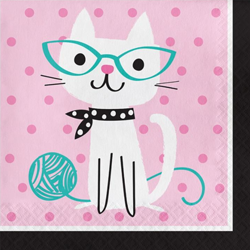 Purr-Fect Pussy Cat Lunch Napkins