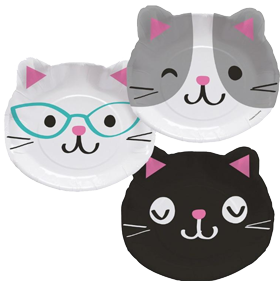 Purr-Fect Pussy Cat Shaped Party Plates