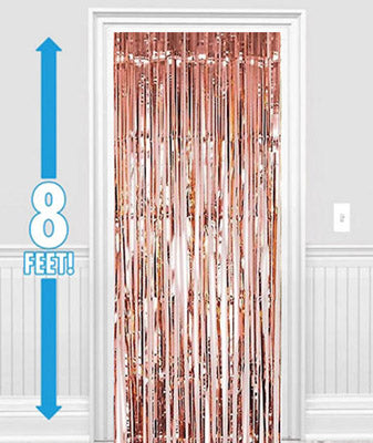 Rose Gold Metallic Foil Curtain