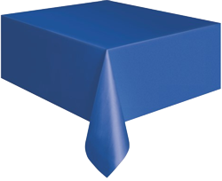 Royal Blue Plastic Table Cloth