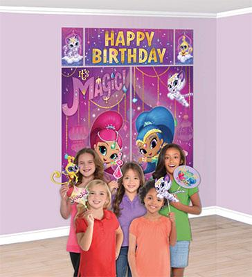 Shimmer and Shine Scene Setter Wall Decoration with Props NZ