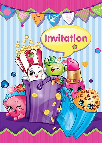 Shopkins Party Invites