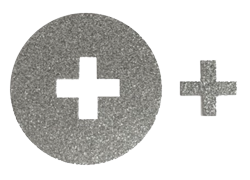 Silver Glitter Cross Sticker