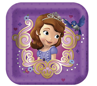 Sofia The First Party Plates