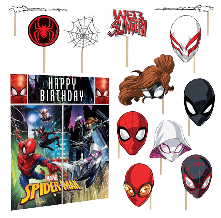 Spiderman Scene Setter Decorating Kit and Photo Props