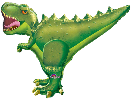 T-Rex Foil Supershape Party Balloon (Green)
