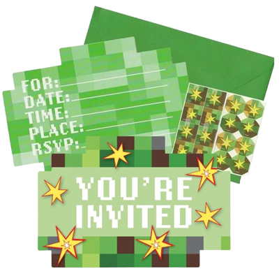 Minecraft Party Invitations NZ