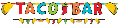 Taco Bar banner Kit nz