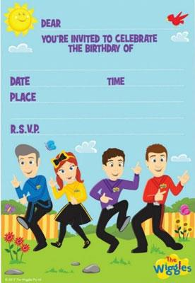 The Wiggles Party Invitations