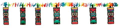 Tiki FLower Garland | Hawaiian Party Decorations