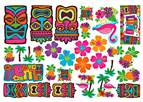 Tiki Luau Party Cutouts