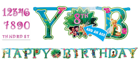 Tinker Bell Add An Age Happy Birthday Banner