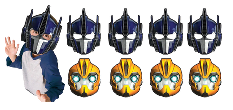 Transformers Party Masks pk8