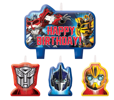 Transformers Party Candles