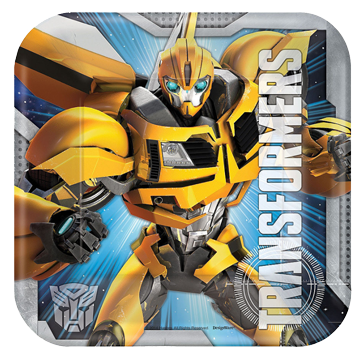Bumblebee Transformers Small plates pk8