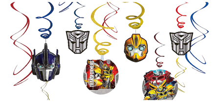 Transformers Swirl Hanging Decorations pk12
