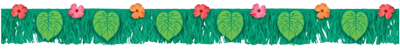 Tropical Fringe Banner with Flowers Palm Leaves NZ