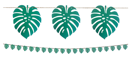 Tropical Palm Leaf Banner Decoration NZ