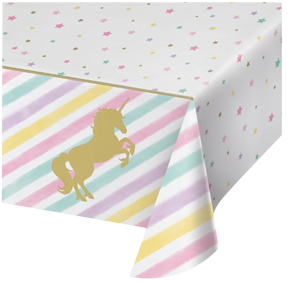 Unicorn Sparkle Plastic Table Cloth