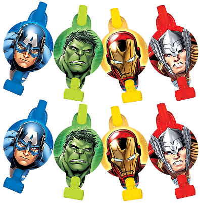 The Avengers Party Blowouts pk8