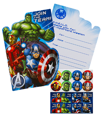 The Avengers Party Invites