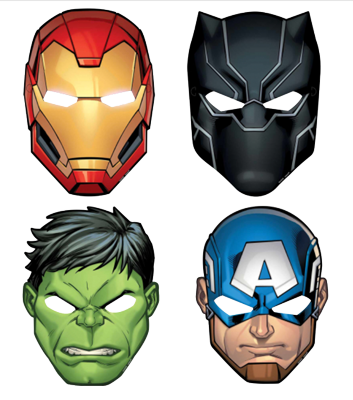 The Avengers Party Masks pk8