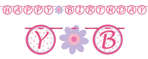 Tutu Much Fun Happy Birthday Ribbon Banner