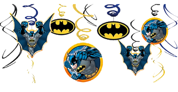 Batman Swirl decorations