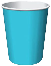 Bermuda Blue Party Cups 24per pkt