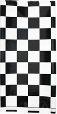 Black Check racing Table cover