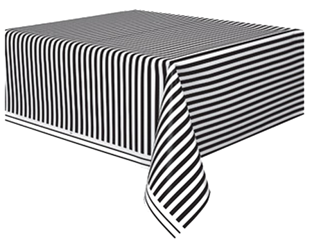 Black striped Table Cloth