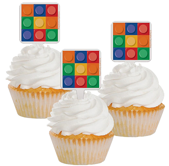 Lego Party Cupcake Picks