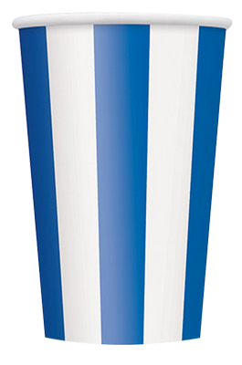 Blue Striped Party Cups