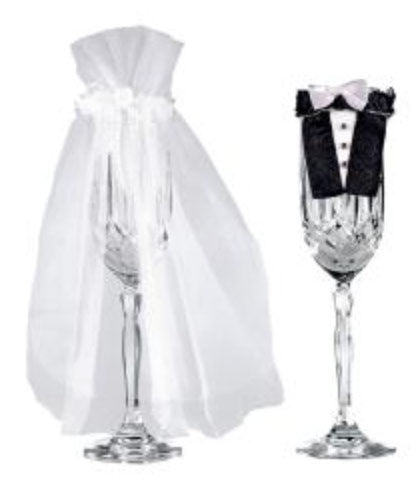 Bride and Groom Stemware