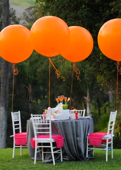 Bright Orange Jumbo Balloons 60cm