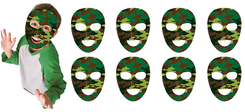 Camo Army Party Masks NZ