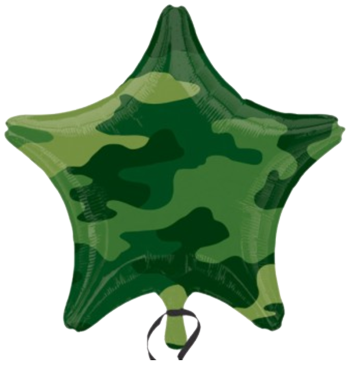 Camo Star Foil Balloon