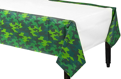 Camo Plastic Table Cloth