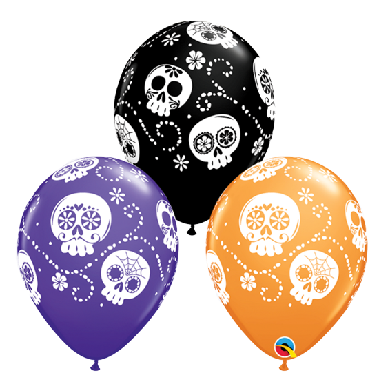 Sugar Skull Day of the dead balloons