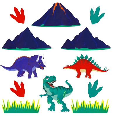 Dinosaur Wall Decorating Kit NZ