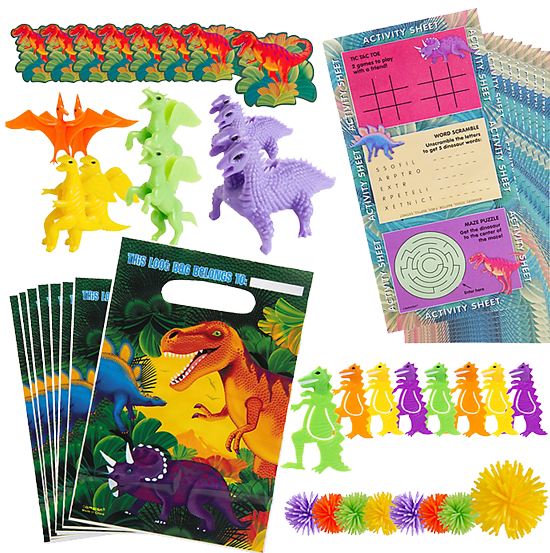 Dinosaur Party Favour Pack