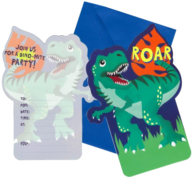 Dinosaur Roar Party Invitations NZ