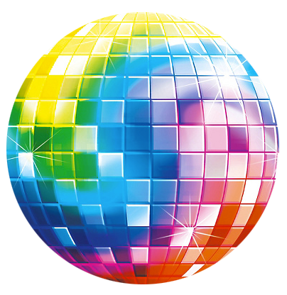 Disco Ball Plastic Cutout