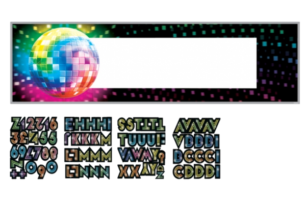 Disco Personalised Giant Banner Kit