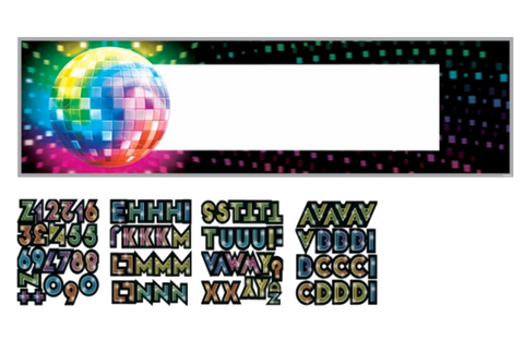 Disco Party Customisable Banner