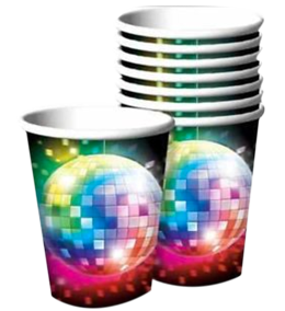 Disco Theme Party Cups