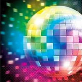 Disco Theme Party Napkins
