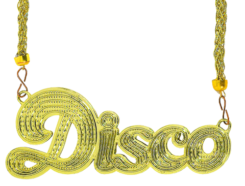 Gold Disco Party Necklace