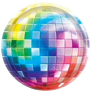 Disco Theme Party Plates