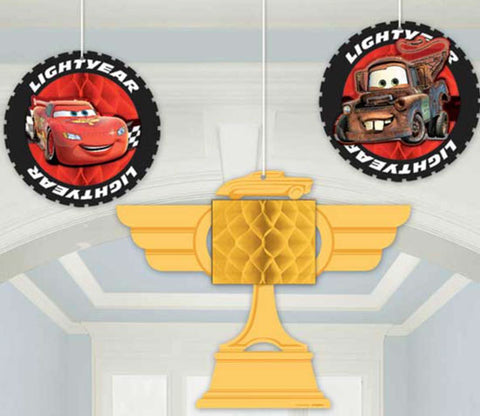 Disney Cars Honeycomb Decorations